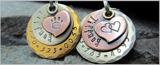 golden retriever dog tag